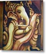 Scholar Ganesh Metal Print