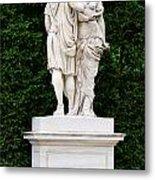 Schonbrunn Palace In Vienna Austria - Garden Statue Detail Metal Print