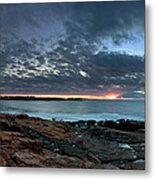 Schoodic Point Sunrise 7218 Metal Print