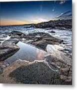 Schoodic Reflections Metal Print