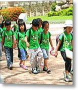 School Children In Gyeongju Korea Metal Print