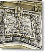 School Crest Metal Print
