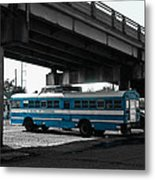School Of Everything Under A Bridge In New Orleans Metal Print by Louis Maistros