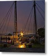 Schooner Heritage Night Shot Metal Print