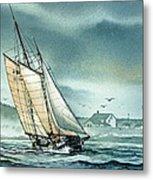 Schooner Voyager Metal Print