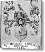 Schuyler Family Arms Metal Print