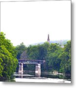 Schuylkill River At Manayunk Philadelphia Metal Print by Bill Cannon
