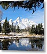 Schwabacher Landing - Grand Teton National Park Metal Print