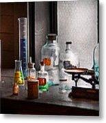 Science - Chemist - Chemistry Equipment  Metal Print by Mike Savad