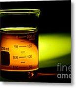 Scientific Beaker In Science Research Lab Metal Print