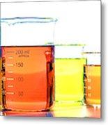 Scientific Beakers In Science Research Lab Metal Print