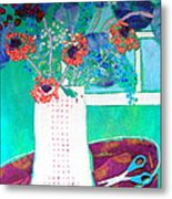 Scissors Metal Print by Diane Fine