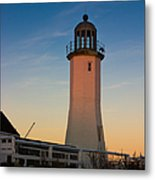 Scituate Lighthouse In Oct Metal Print