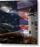Scituate Strong Protecting American Shoreline Metal Print
