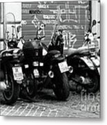 Scooter Plates Metal Print