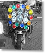 Scooter Spotlights Metal Print