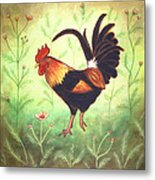 Scooter The Rooster Metal Print