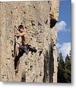 Scorched Earth Climbing 2 Metal Print