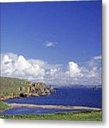 Scotland Shetland Islands Eshaness Cliffs Metal Print