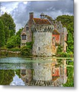 Scotney Castle Reflections Metal Print