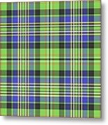 Scott Ancient Green Tartan Metal Print