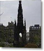 Scott Monument Inside The Princes Street Gardens In Edinburgh Metal Print