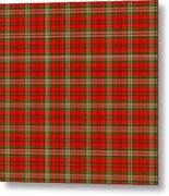 Scott Red Tartan Variant Metal Print by Gregory Scott