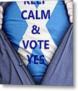 Scottish Businessman Votes Yes Metal Print