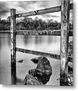 Scottish Loch With Fence Metal Print