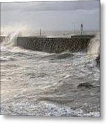 Scottish Sea Storm Metal Print