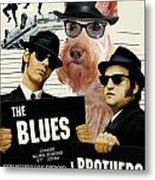 Scottish Terrier Art Canvas Print - The Blues Brothers Movie Poster Metal Print by Sandra Sij