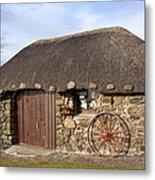 Scottish Thatched Cottage Metal Print