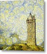 Starry Scrabo Tower Metal Print