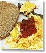 Scrambled Eggs And Salsa Metal Print