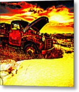 Junk In The Afternoon Sun Metal Print