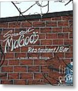Scratch Magoo's Wilmington De Metal Print
