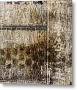 Scratched Metal And Old Books Number 2 Metal Print