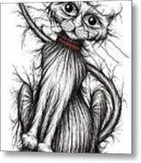 Scratchy Cat Metal Print