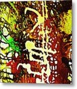 Scrawled Metal Print
