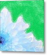 Scream And Shout Blue White Green Metal Print
