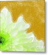 Scream And Shout Green White Brown Metal Print