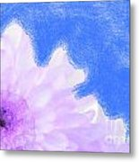 Scream And Shout Purple White Blue Metal Print
