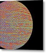 Screen Orb-17 Metal Print