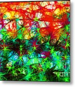 Scribble Thicket Metal Print
