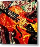 Scribbled Fiddle Metal Print