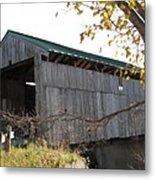 Scribner Bridge Johnson Vermont Metal Print