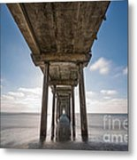 Scripps Pier Long Exposure Metal Print