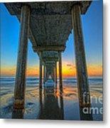Scripps Pier Sunset Metal Print