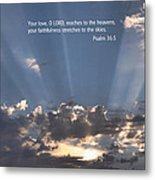 Scripture And Picture Psalm 36 5 Metal Print