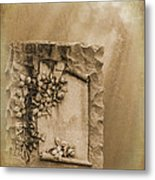 Scroll And Flowers The Forgotten Series 12 Metal Print